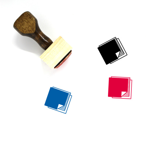Fabric Swatches Wooden Rubber Stamp No. 1
