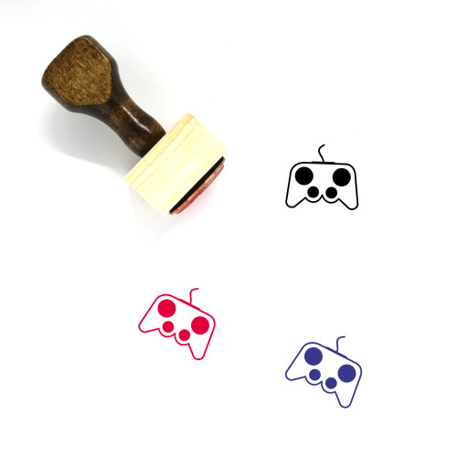 Game Wooden Rubber Stamp No. 313
