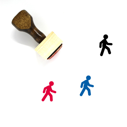 Walk Wooden Rubber Stamp No. 11