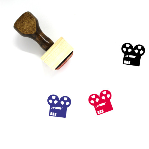 Audio Recorder Wooden Rubber Stamp No. 6