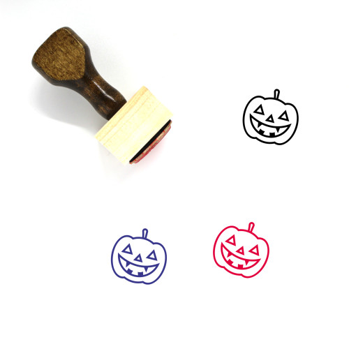 Jack O' Lantern Wooden Rubber Stamp No. 111
