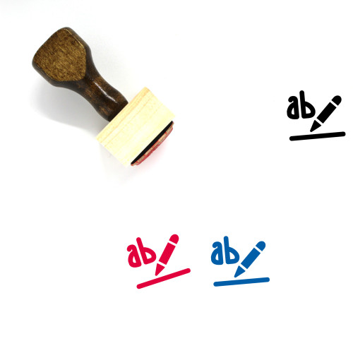 Text Highlight Color Wooden Rubber Stamp No. 2