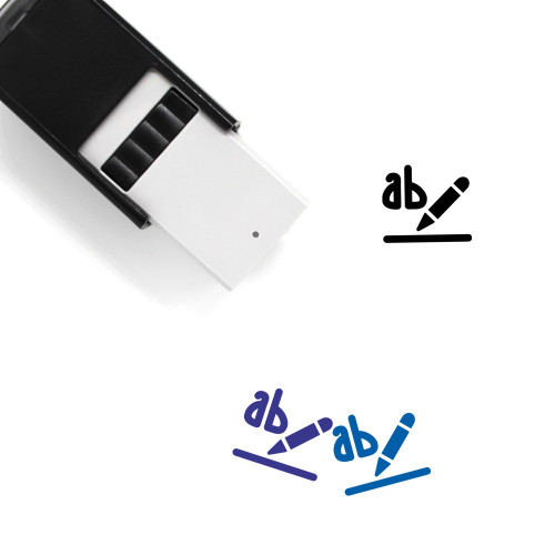Text Highlight Color Self-Inking Rubber Stamp No. 2