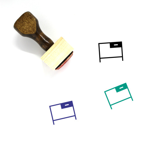 Office Wooden Rubber Stamp No. 93