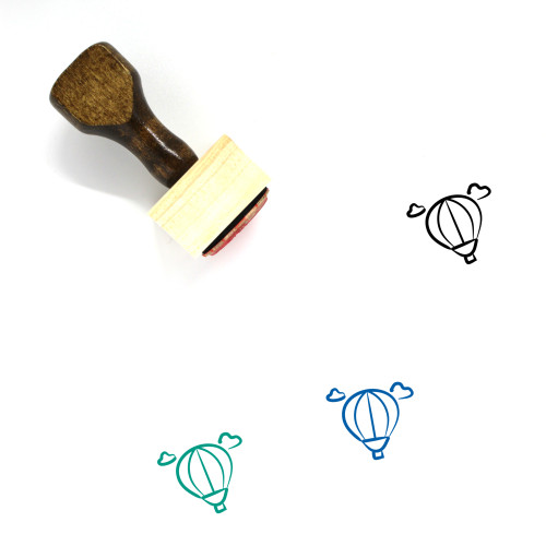 Air Balloon Wooden Rubber Stamp No. 36