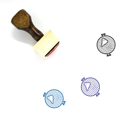 Grill Wooden Rubber Stamp No. 63