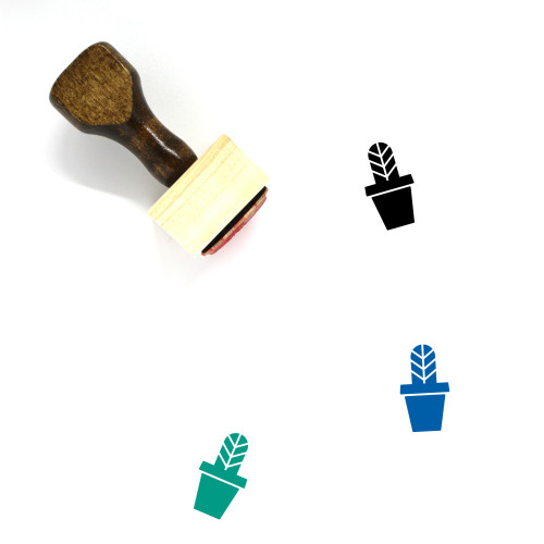 Cactus Wooden Rubber Stamp No. 115