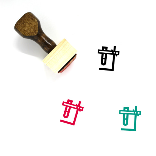 Support Stand Wooden Rubber Stamp No. 1