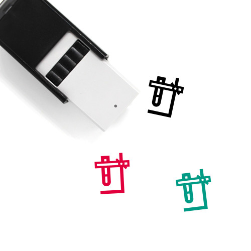 Support Stand Self-Inking Rubber Stamp No. 1