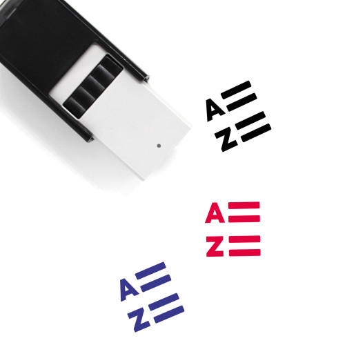 List Alphabetic Self-Inking Rubber Stamp No. 1