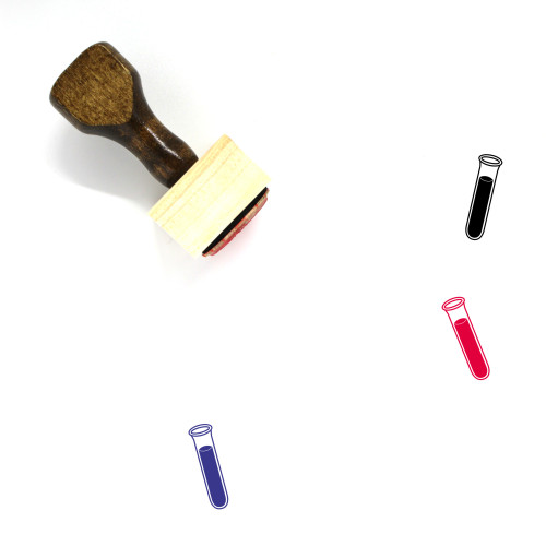 Test Tube Wooden Rubber Stamp No. 67