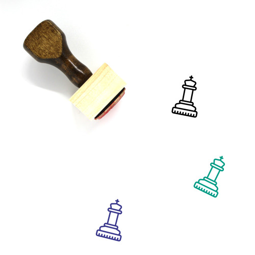 Chess Piece Wooden Rubber Stamp No. 37