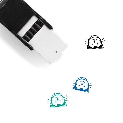 Cat Roll Over Self-Inking Rubber Stamp No. 1