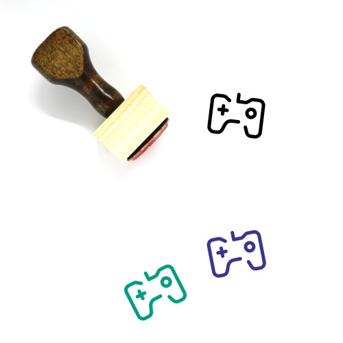 Video Game Wooden Rubber Stamp No. 41