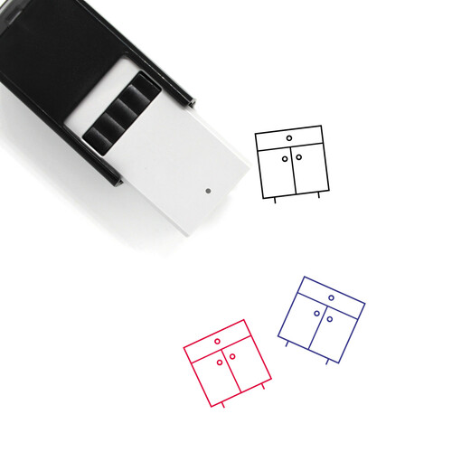 Cupboard Self-Inking Rubber Stamp No. 8