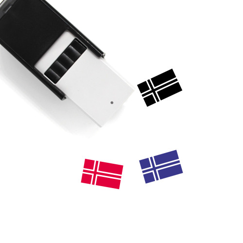 Norway Flag Self-Inking Rubber Stamp No. 13