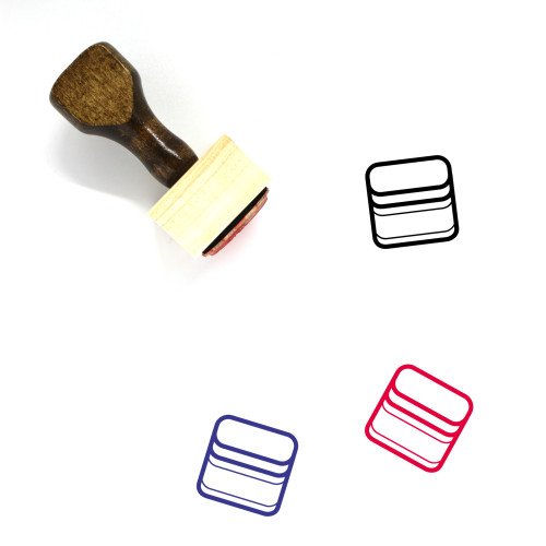 Nutella Wooden Rubber Stamp No. 11