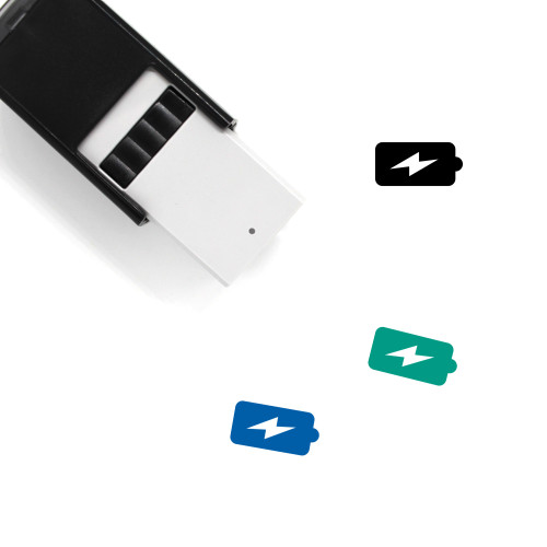 Charging Battery Self-Inking Rubber Stamp No. 5