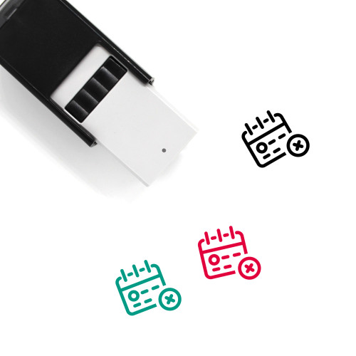 Delete Calendar Self-Inking Rubber Stamp No. 39