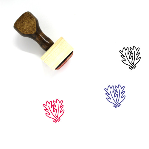 Kale Wooden Rubber Stamp No. 21