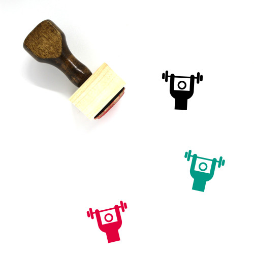 Weightlifting Wooden Rubber Stamp No. 119