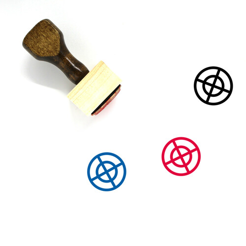 Aim Wooden Rubber Stamp No. 81