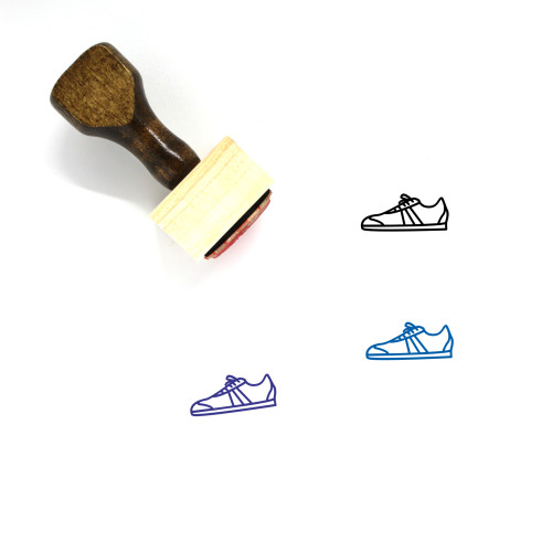 Sneaker Wooden Rubber Stamp No. 93