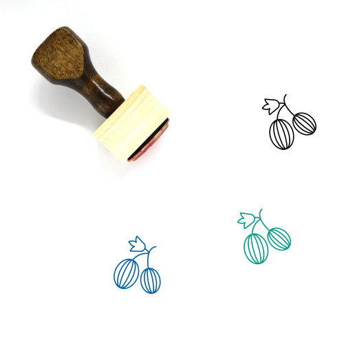 Fruit Wooden Rubber Stamp No. 173