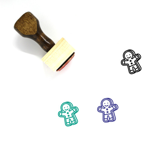 Gingerbread Man Wooden Rubber Stamp No. 114