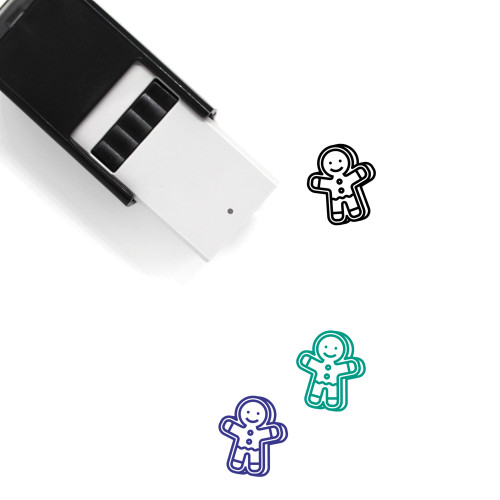 Gingerbread Man Self-Inking Rubber Stamp No. 114