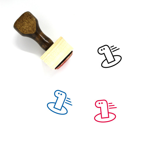 Sea Monster Wooden Rubber Stamp No. 5