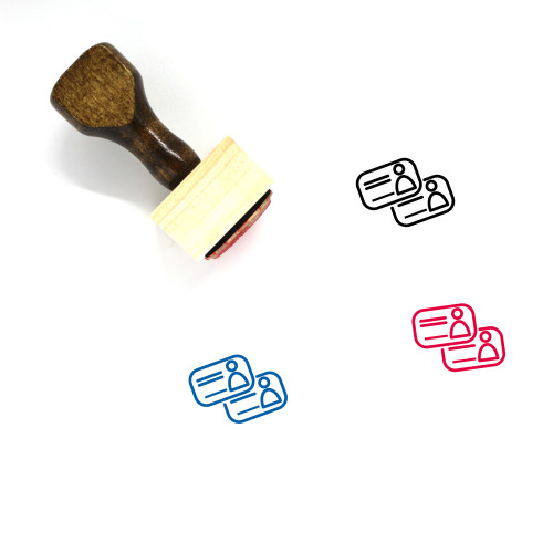 Id Cards Wooden Rubber Stamp No. 6