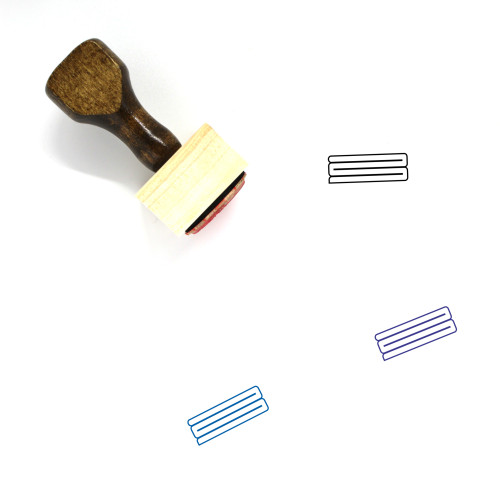 Fabric Wooden Rubber Stamp No. 70