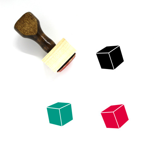 Cube Wooden Rubber Stamp No. 83