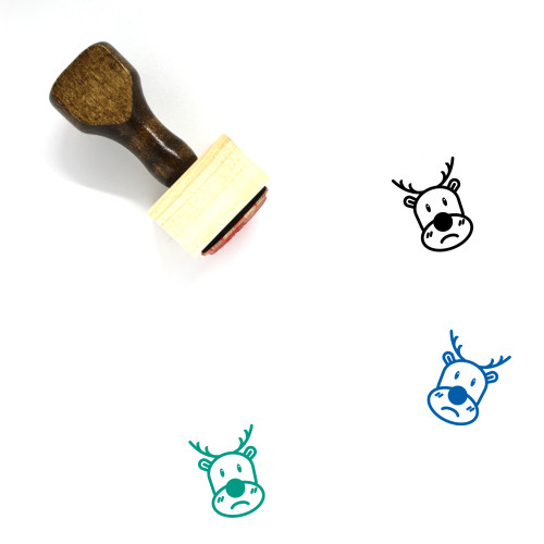 Rudolph Wooden Rubber Stamp No. 14