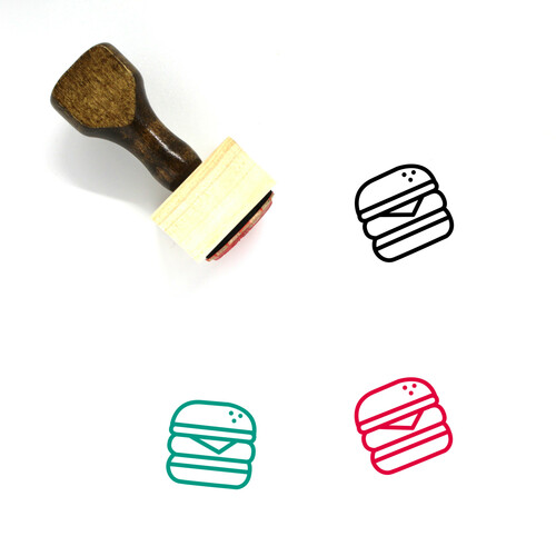 Food Wooden Rubber Stamp No. 191