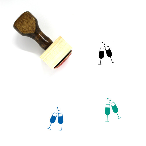 Cheers Wooden Rubber Stamp No. 39