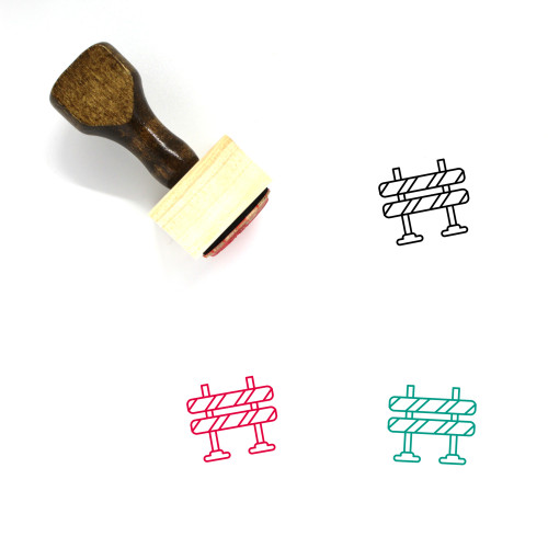 Fencing Wooden Rubber Stamp No. 92