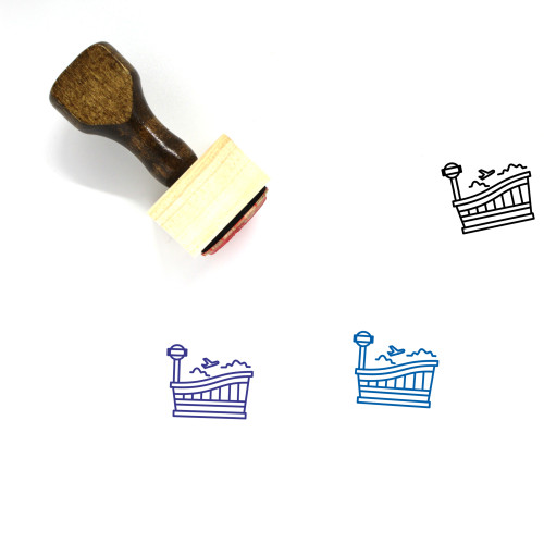Airport Wooden Rubber Stamp No. 106