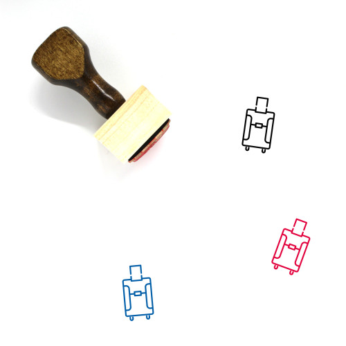 Luggage Wooden Rubber Stamp No. 145