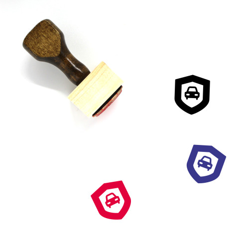 Car Security Wooden Rubber Stamp No. 11