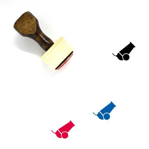 Cannon Wooden Rubber Stamp No. 86