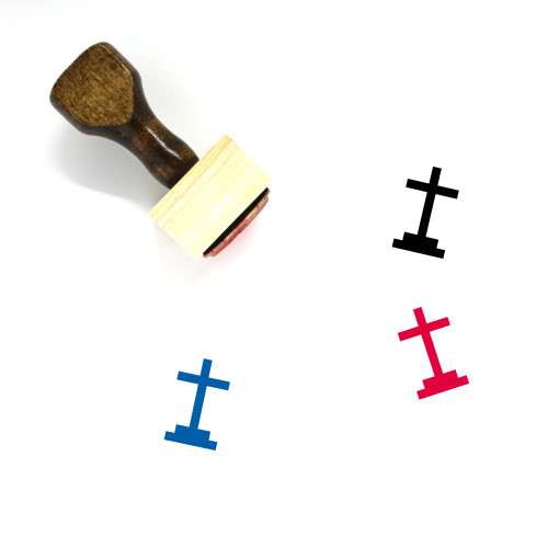 Crucifix Wooden Rubber Stamp No. 37