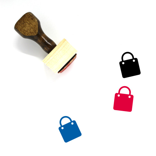 Shopping Bag Wooden Rubber Stamp No. 185