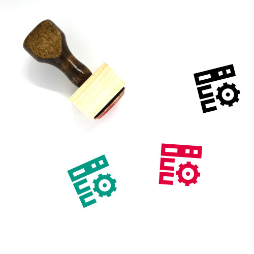 Network Setting Wooden Rubber Stamp No. 6