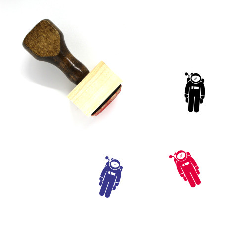 Astronaut Wooden Rubber Stamp No. 74