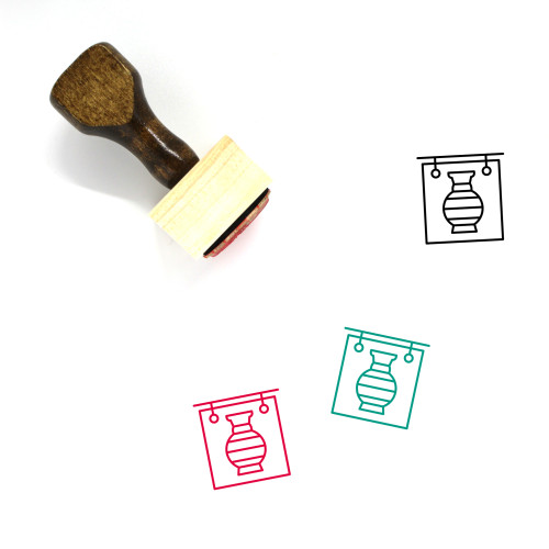 Accademia Gallery Wooden Rubber Stamp No. 1