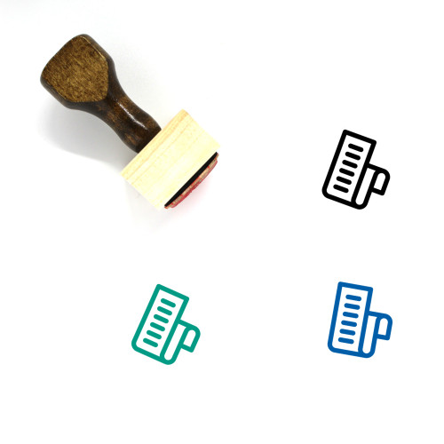 Bill Wooden Rubber Stamp No. 72