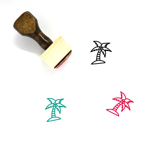 Coconut Tree Wooden Rubber Stamp No. 55
