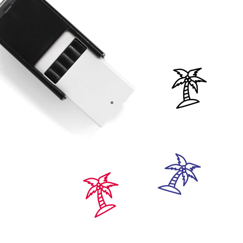 Coconut Tree Self-Inking Rubber Stamp No. 55